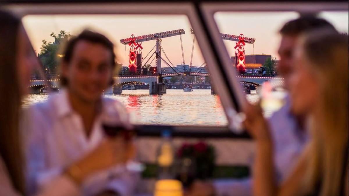 croisière Amsterdam dîner romantique en amoureux