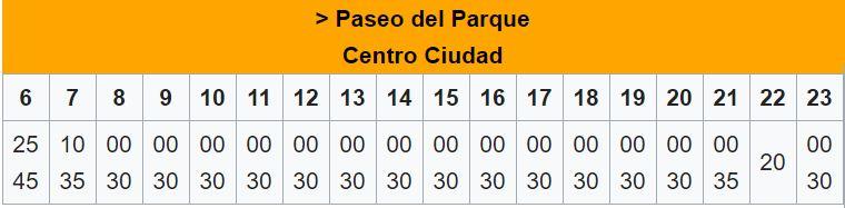 horaires bus ligne A - transfert aéroport Malaga