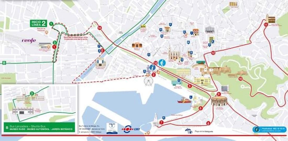 trajet bus - Malaga Experience Card