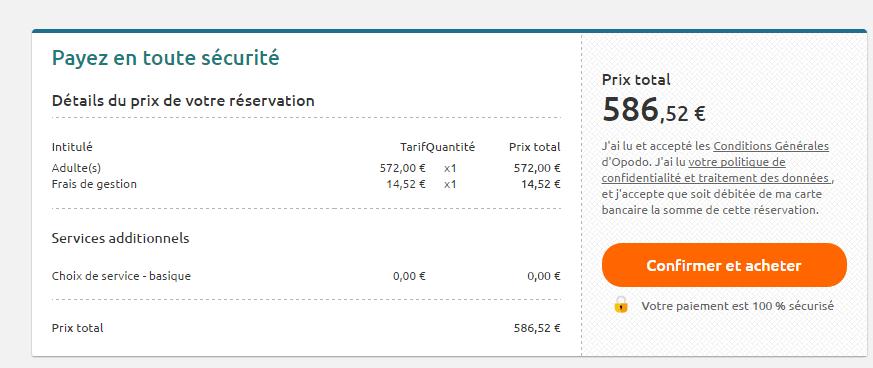 frais de gestion comparateur de vols