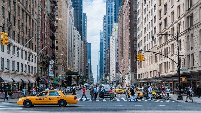 Manhattan - avion pour new york