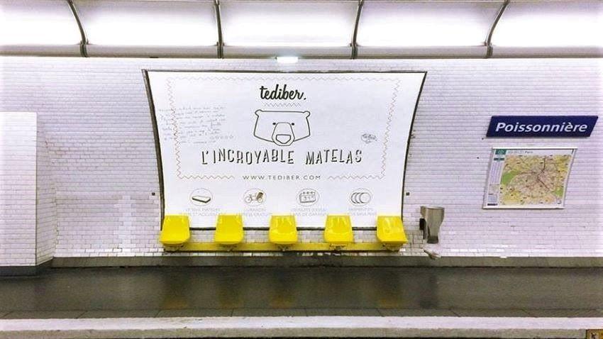 pub tediber l'incroyable matelas métro