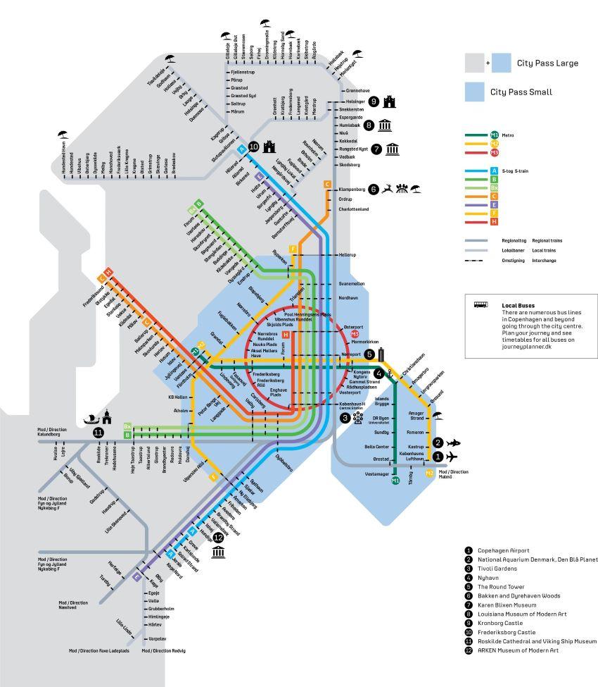 réseau transport métro Copenhague