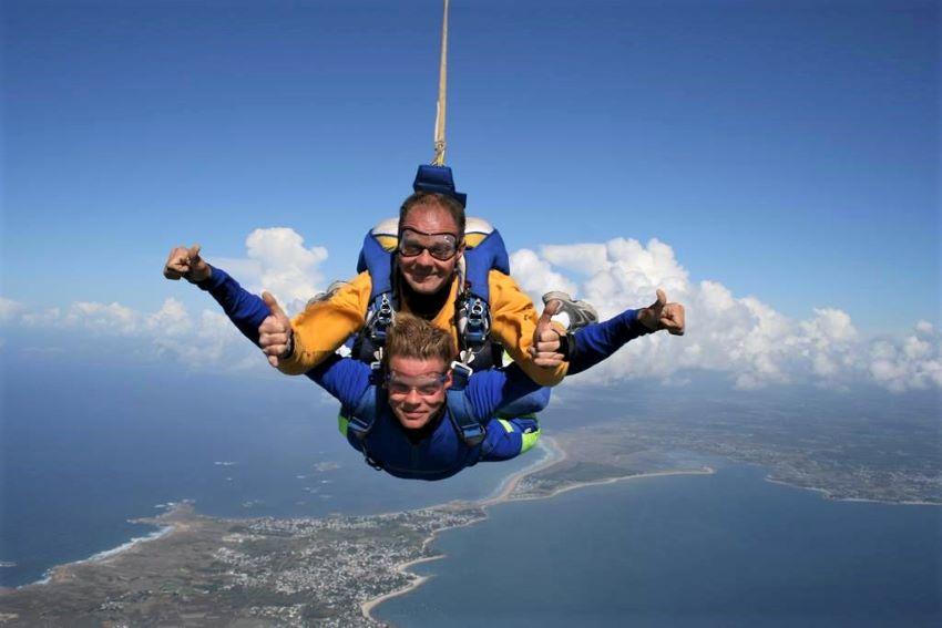 saut en parachute Quiberon