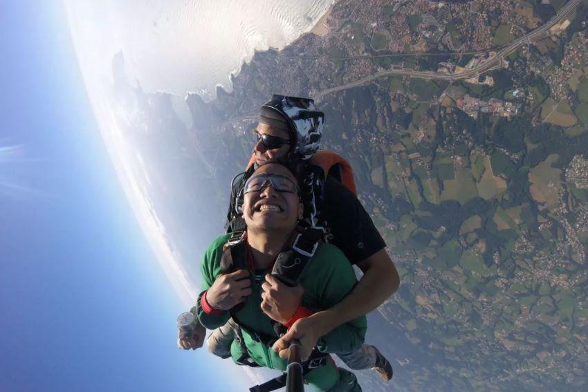 saut en parachute Biarritz