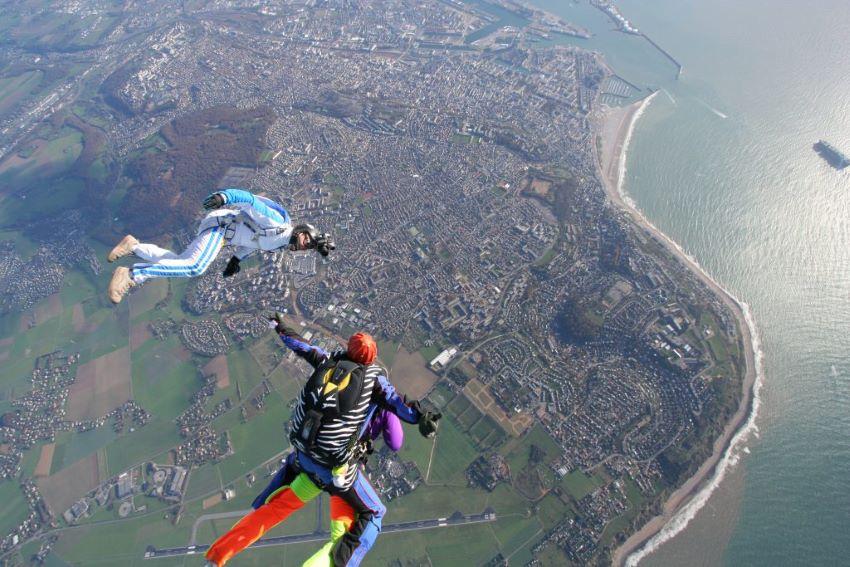 baptême de saut en parachute - Le Havre