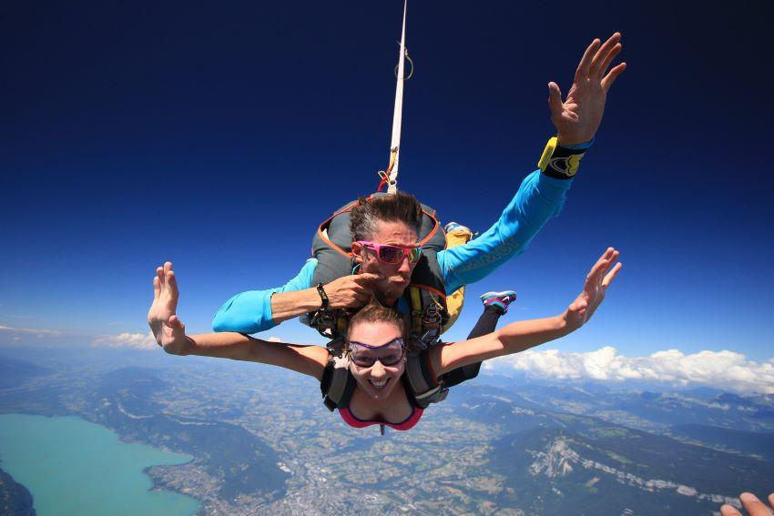 saut en parachute Chambéry - les Alpes