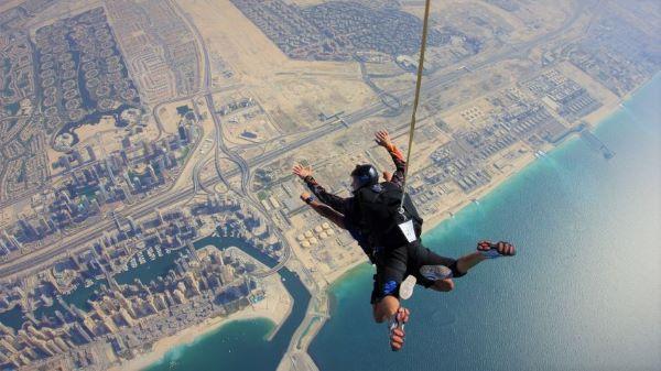 chute libre Dubaï